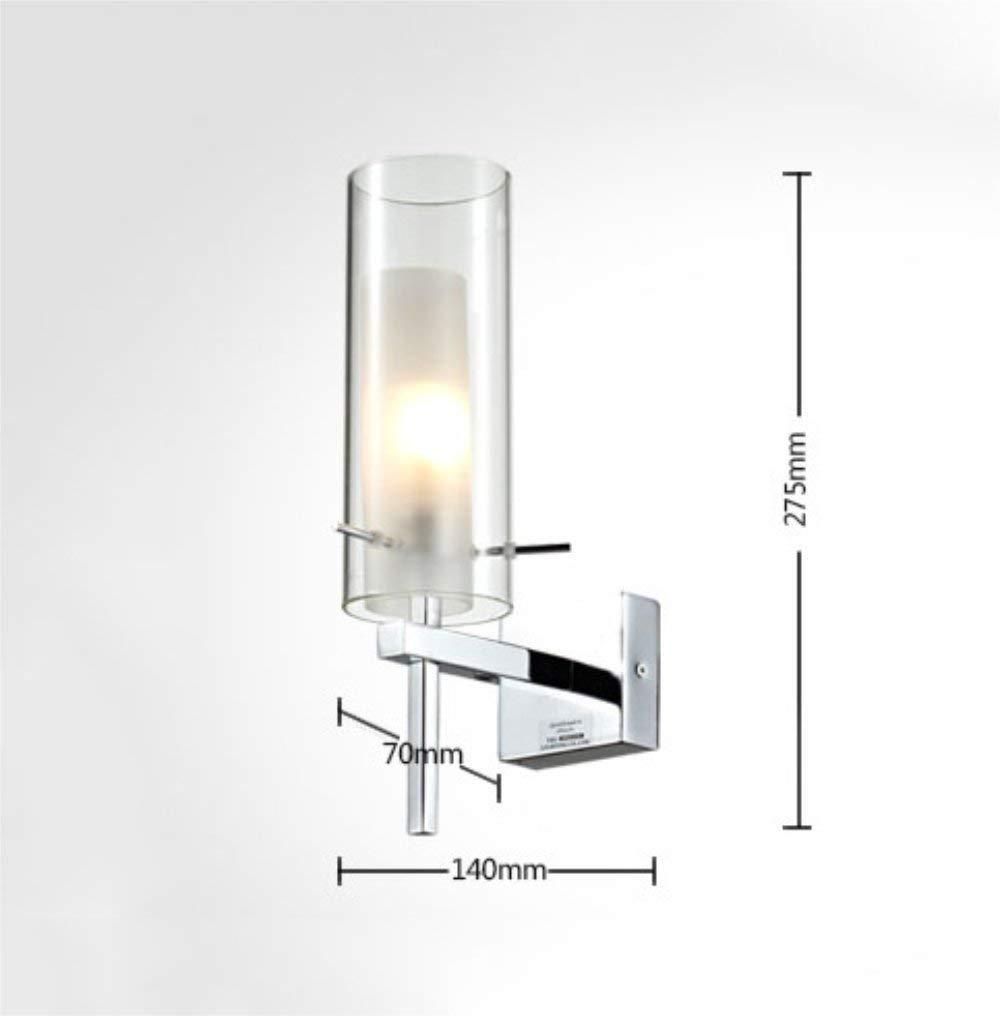 Oudan Chinesische Moderne Continental Minimalist Glas Eisen Hot Kreative Lounge Das Schlafzimmer Wandleuchte Bett (Farbe   -, Größe   -)