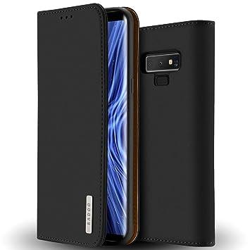 Funda Galaxy Note 9 Cuero Genuino,Radoo Carcasa Piel de Cuero Genuino con [Soporte Plegable] [Ultra-Delgado]TPU Parachoques Cover,Protección De Cuerpo ...