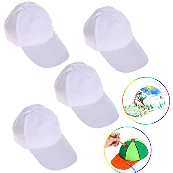 Joyibay 4PCS gorra de béisbol en blanco creativo del sombrero del ...