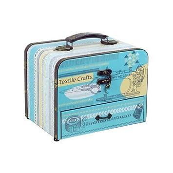 """Caja Costura Decorativa con Set de Costura""""Textile Crafts"""". Costureros. Cajas Multiusos"""