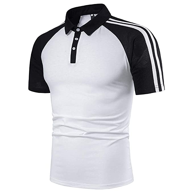 para Hombre Mangas Largas Denim Costura Camisas Algodón Slim Fit ...