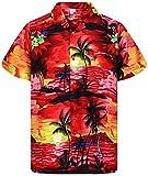 V.H.O. Funky Hawaiian Shirt, Shortsleeve, Surf, Red, XL