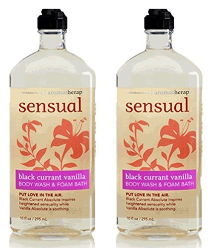 Body Wash Foam Bath (Lot of 2 Black Currant Vanilla Body Wash & Foam Bath 10oz. Sensual)