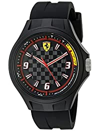 Ferrari Men's 0840009 Pit Crew Analog Display Japanese Quartz Black Watch