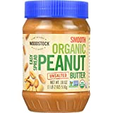 Woodstock Organic Easy Spread Smooth Unsalted Peanut Butter