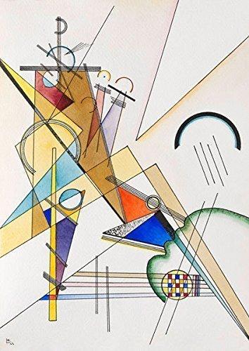 Keilrahmen-Bild - Wassily Kandinsky  Gewebe Leinwandbild (35x45)
