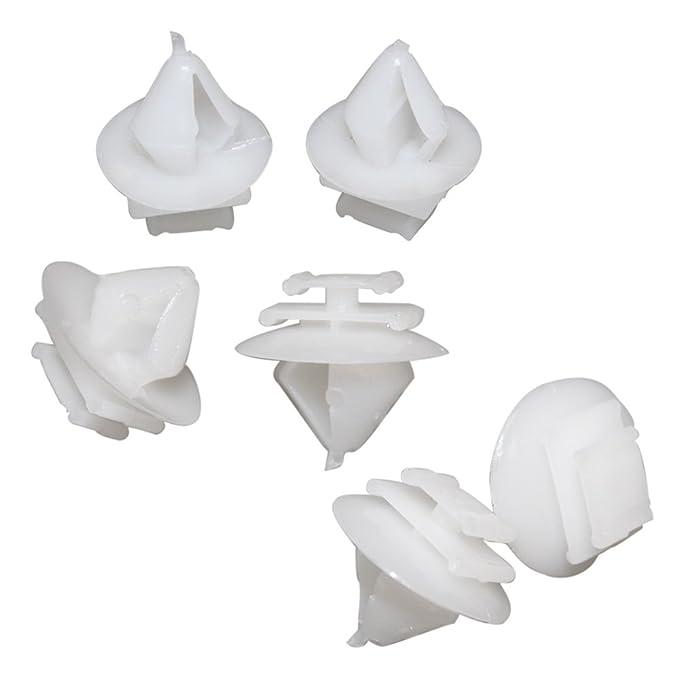 Muchkey - Grapas de plástico 8565.40 856540 para molduras y revestimientos de coche, 10 unidades: Amazon.es: Coche y moto