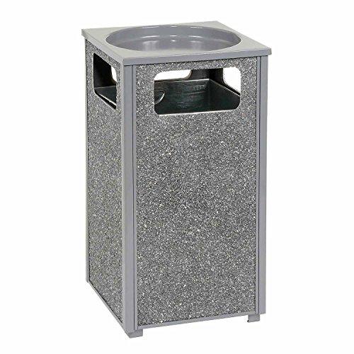Stone Panel Trash Sand Urn, 13-1/2