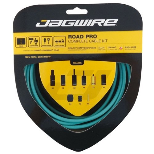 Jagwire Road Pro Complete Road Brake And Derailleur Kit Bianchi Celeste 1