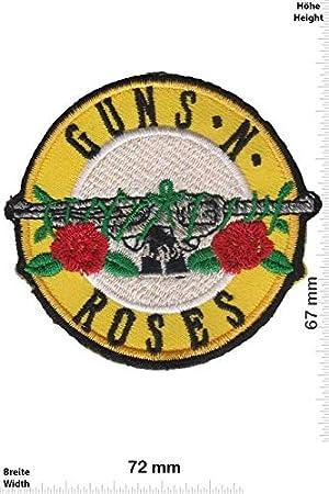 Guns N Roses Revolver parche redondo parche bordado para planchar en el accesorio de recuerdo: Amazon.es: Hogar