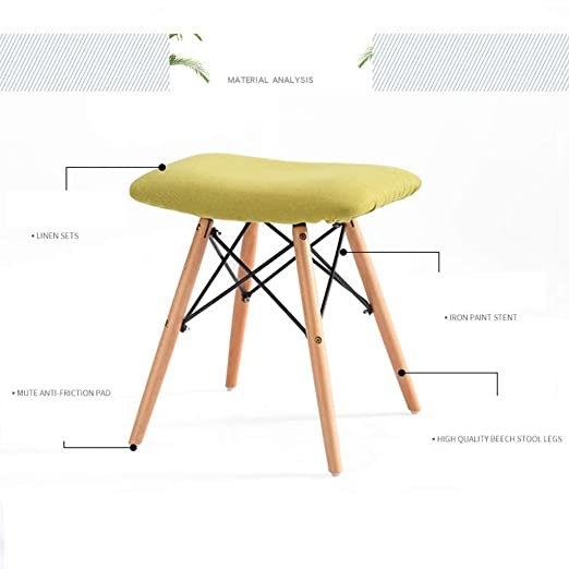 Sensational Amazon Com Modern Padded Ottoman Stool Footrest Shoe Bench Theyellowbook Wood Chair Design Ideas Theyellowbookinfo