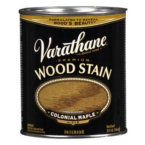 Varathane 211712H Premium Wood Stain, Quart, Colonial Maple