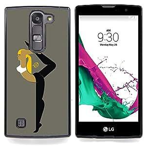 For LG Volt 2 / LG G4 Mini (G4c) - Flexible Woman /Modelo de la piel protectora de la cubierta del caso/ - Super Marley Shop -