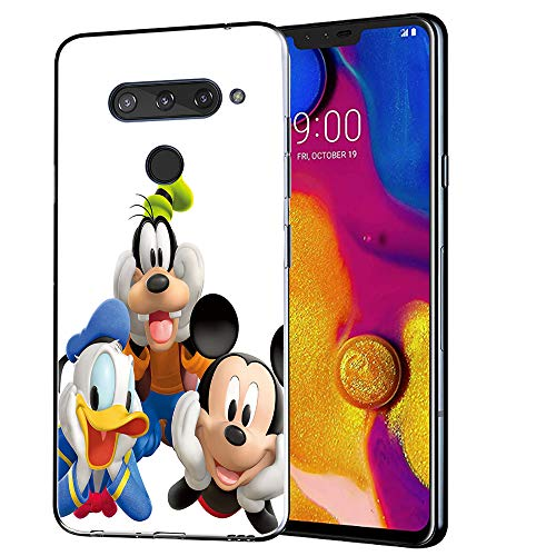 (GSPSTORE LG V40 ThinQ Case, LG V40 Case Mickey and Minnie Mouse Pattern Protector Case Cover for LG V40 ThinQ(2018))