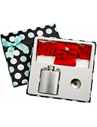 Take 3oz Red Garter Belt Hip Flask with Gift Box for Weddings, Free Engraving! online