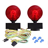 #6: CZC AUTO 12V Two Sided Magnetic Towing Light Kit For Trailer RV Boat Truck -Magnetic Strength 55 Pounds
