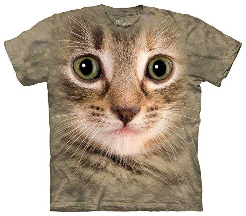 The Mountain Men's Kitten Face T-Shirt, Green, Youth X-Large