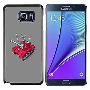 EJOOY---Cubierta de la caja de protección para la piel dura ** Samsung Galaxy Note 5 5th N9200 ** --Swiss Army Tank