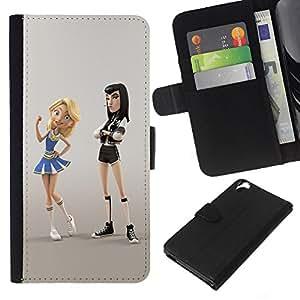 EJOY---La carpeta del tirón la caja de cuero de alta calidad de la PU Caso protector / HTC Desire 820 / --punky animadora personaje lucha de dibujos animados
