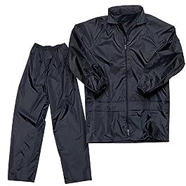 Delhitraderss Bike/Scooter Water Proof Black Plain Unisex Rain Coat with Bag