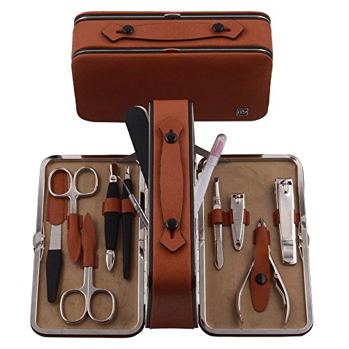 9PCS Manicure, Pedicure Kit, Personal Nail care goods with Portable Travel Case by BELOTTY Manicure set FR-170H/99/038 by BELOTTY