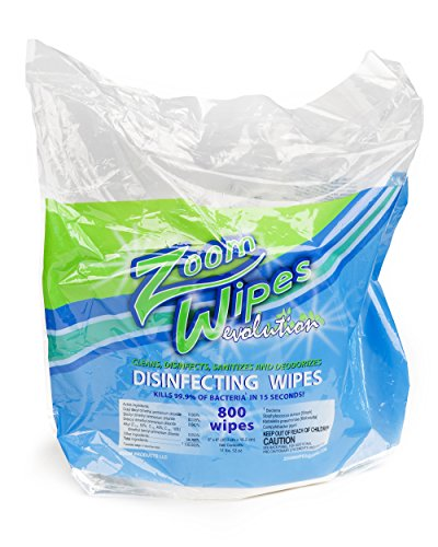 Gym Wipes, Disinfectant Wipes, Antibacterial Wipes, Zoom Evolution Fitness Wipes, Sanitizing wipes with Value Saver Pack 800 Gym Wipes - 4 Rolls per Case (3,200 wipes)