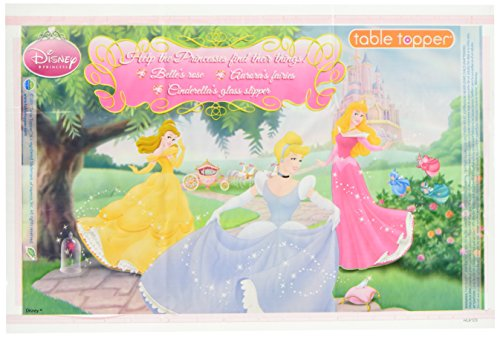Neat Solutions 18 Piece Disney Princess Table Topper, Pink Multi