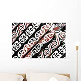 Maori Ornament New Zealand Wall Mural by Wallmonkeys Peel and Stick Graphic (24 in W x 16 in H) WM141627