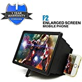 Spykart Universal Big Screen high Definition Foldable Box Light Wight Flexible Phone Magnifier F2 3D Screen Practical Phone Holder Stand Compatible with All Smartphones