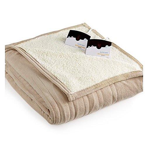 Biddeford 2064-9052140-700 MicroPlush Sherpa Electric Heated Blanket King Taupe