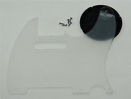 Amazoncom Kaish Clear 5 Hole Vintage Tele Guitar Pickguard Scratch