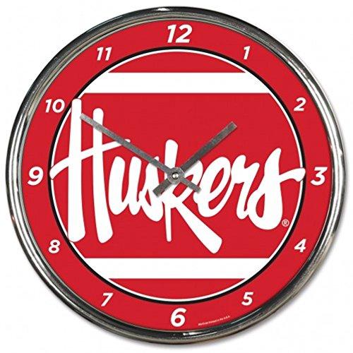 - NCAA Nebraska Cornhuskers WinCraft Official Chrome Clock