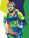 Dirk Nowitzki Poster - NBA Basketball Wall Print