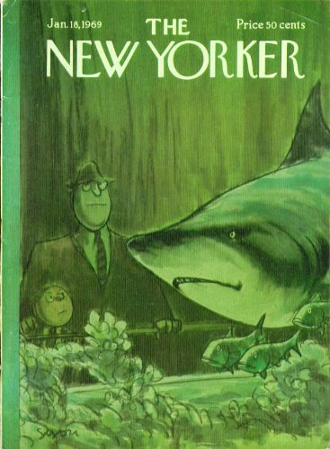 New Yorker cover Saxon tycoon aquarium shark 1/18 1969