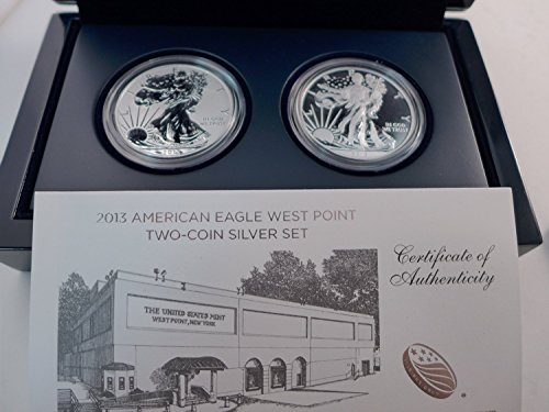 - 2013 W Silver Eagle Two coin West point mint reverse proof set