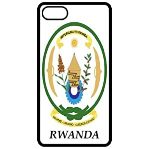 Rwanda - Coat Of Arms Flag Emblem Black Apple Iphone 4 - Iphone 4s Cell Phone Case - Cover