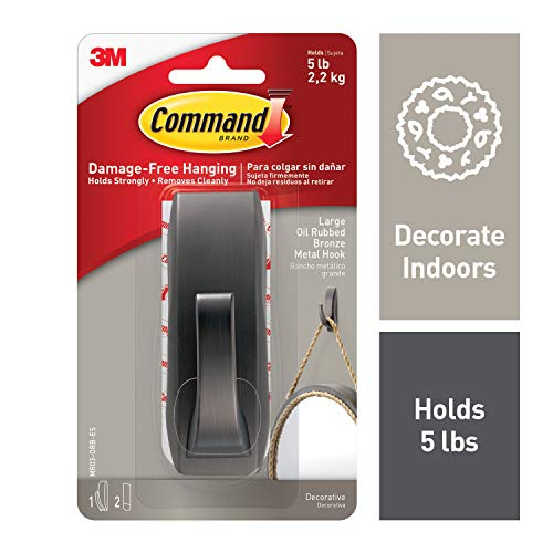 Command 5 lb Capacity Hook, Bronze, Indoor Use (MR03-ORB-ES)