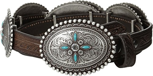 Ariat Women's Oval Concho Belt Brown (Cowgirl Concho Belt)