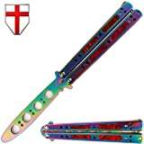 Best Butterfly Knives - Butterfly Knife Trainer Practice Balisong Red Steel Unsharpened Review