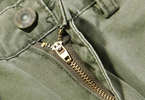 Chengyang Multi Pantaloni Da Lungo Cargo Pantalone Uomo Lavoro Sportivi Verde Calzoni Carico Con Tasche Esercito zpMqVSUG