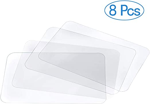 Boao 6 Pieces Clear Placemats Plastic Table Mats Heat Resistant Placemats Non-Slip Dining Mats for Table Kitchen Dining 40 x 30 cm