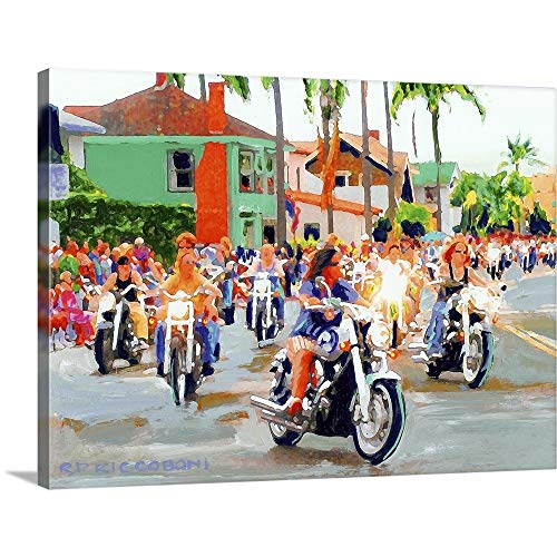 GREATBIGCANVAS Gallery-Wrapped Canvas Entitled Belle on Wheels, D.O.B by RD Riccoboni 16