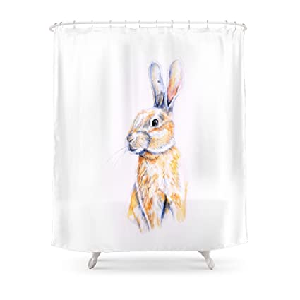 Society6 Rabbit Shower Curtain 71quot