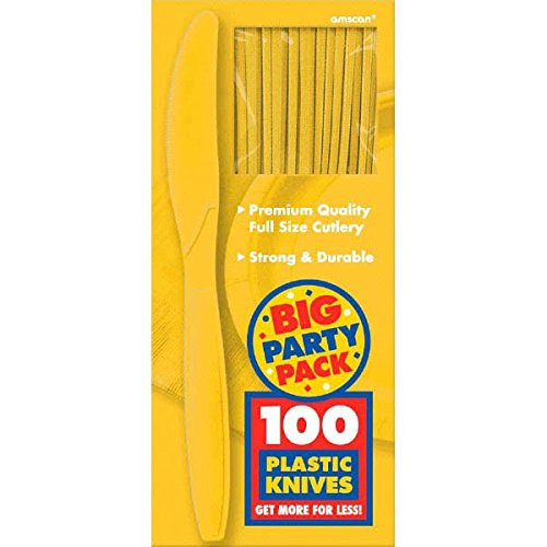 Amscan 43603.09 Big Party Pack Plastic Knives, 8