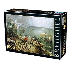 D Toys Puzzle 75826br 03 1000 Pezzi Breughel Elder Landscape With The Fall Of Icarus