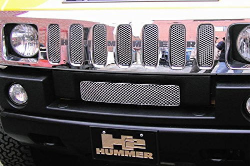 GrillCraft HUM2500S MX Series Silver Upper 7pc Mesh Grill Grille Insert for Hummer