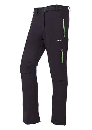 Furco Milan - Pantalones para mujer, color negro/verde claro, talla XL