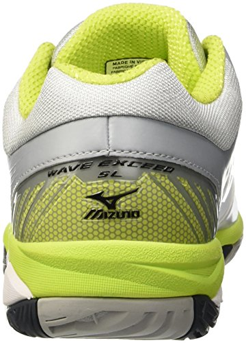 Mizuno Wave Exceed Sl Ac, Zapatillas de Tenis para Hombre Bianco (White/Black/Limepunch)