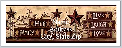 Love Personalized Address Labels - 120 Personalized Address labels Primitive Country Faith Family friends Live Laugh Love (P 345)