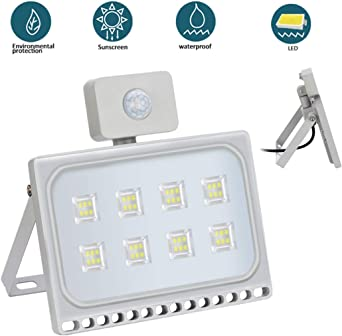 50W Foco Exterior LED con Sensor de Movimiento Floodlight 4500LM ...